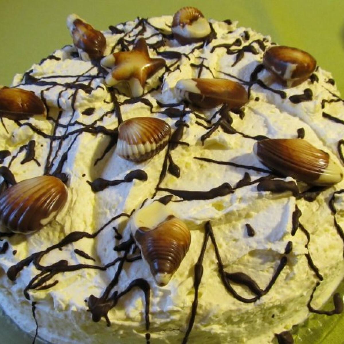 Ezen a képen: Habos pudingkrémes torta