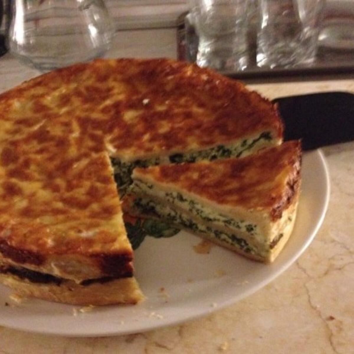 Ezen a képen: Spenótos-ricottás torta