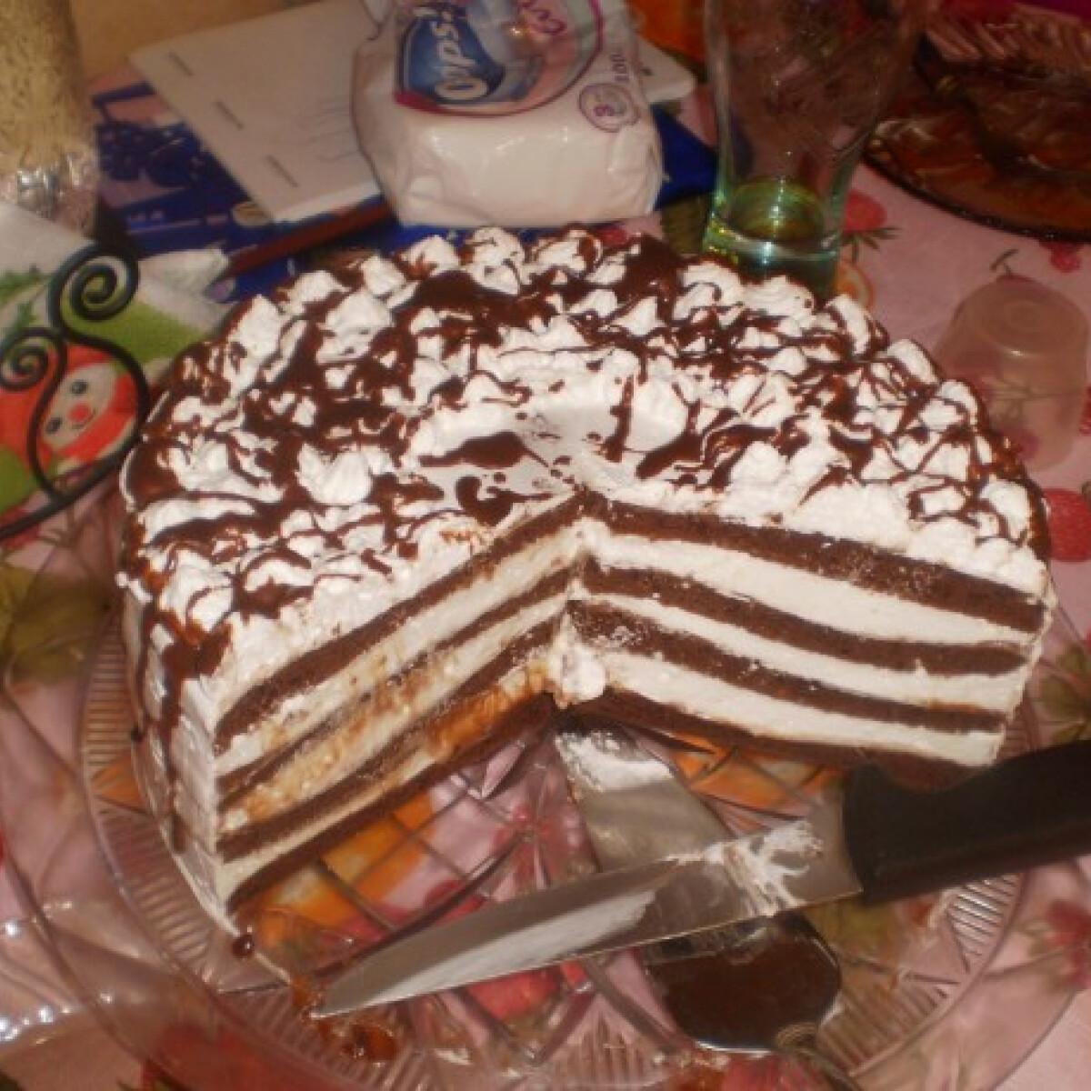 Ezen a képen: Zöldcitromos csokoládétorta