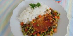 Zöldséges karaj natúr rizzsel