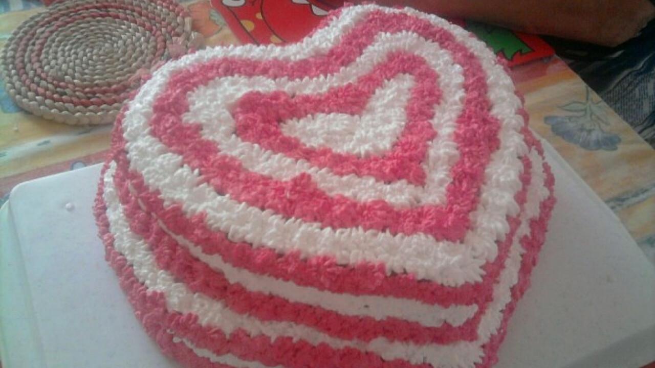 Kakaós szívecske torta