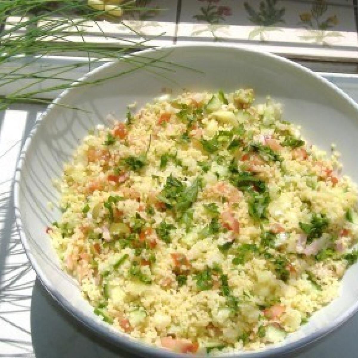 Ezen a képen: Kuszkusz saláta 2. - hús nélkül