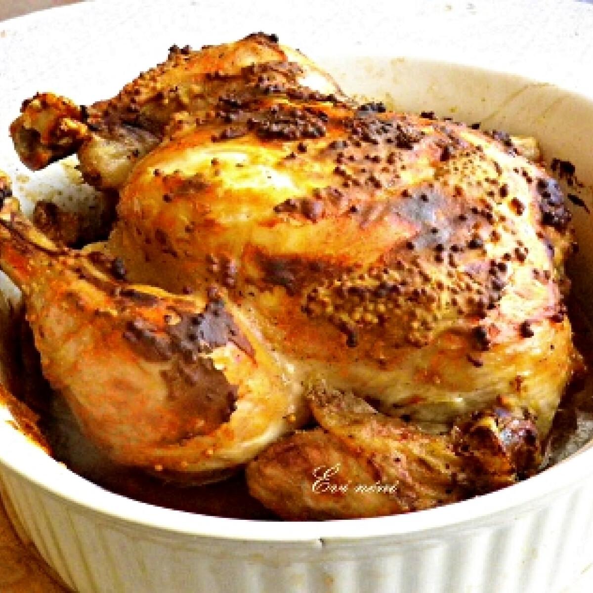 Ezen a képen: Mustáros sült csirke Évi nénitől