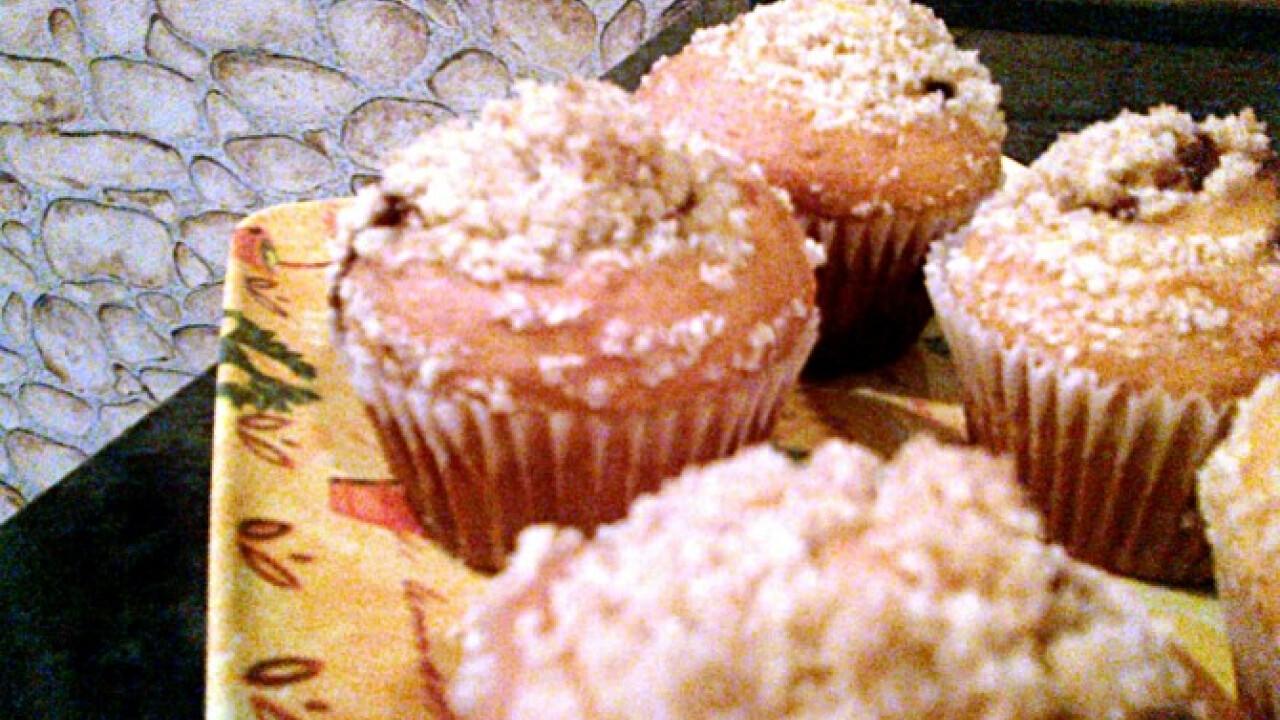 Mogyorókrémes morzsás muffin