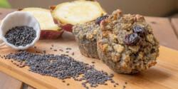 Fekete szezámmagos cukormentes édesburgonya muffin