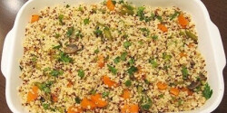 Bulgur-quinoa saláta