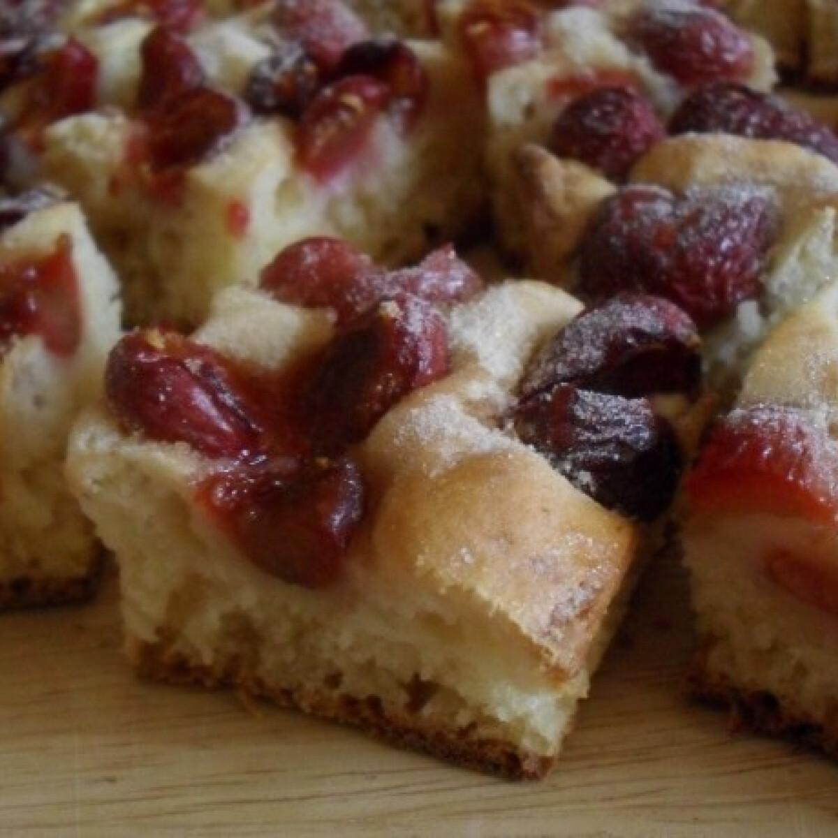 Gluténmentes cseresznyés pite