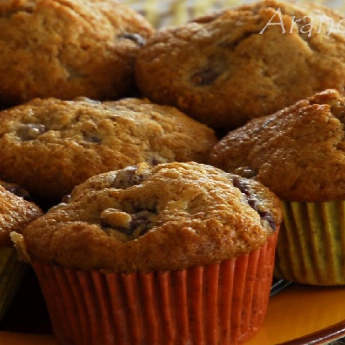Meggyes - diós muffin