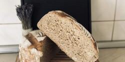 Félbarna magvas kenyér egyszerűen