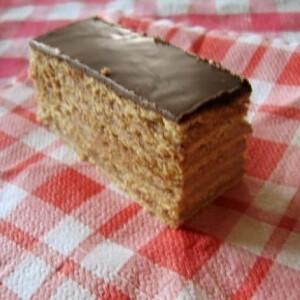 Hamis dobos szelet 2. - csokimázzal