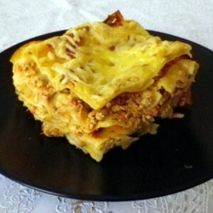 Fűszeres-cukkinis lasagne