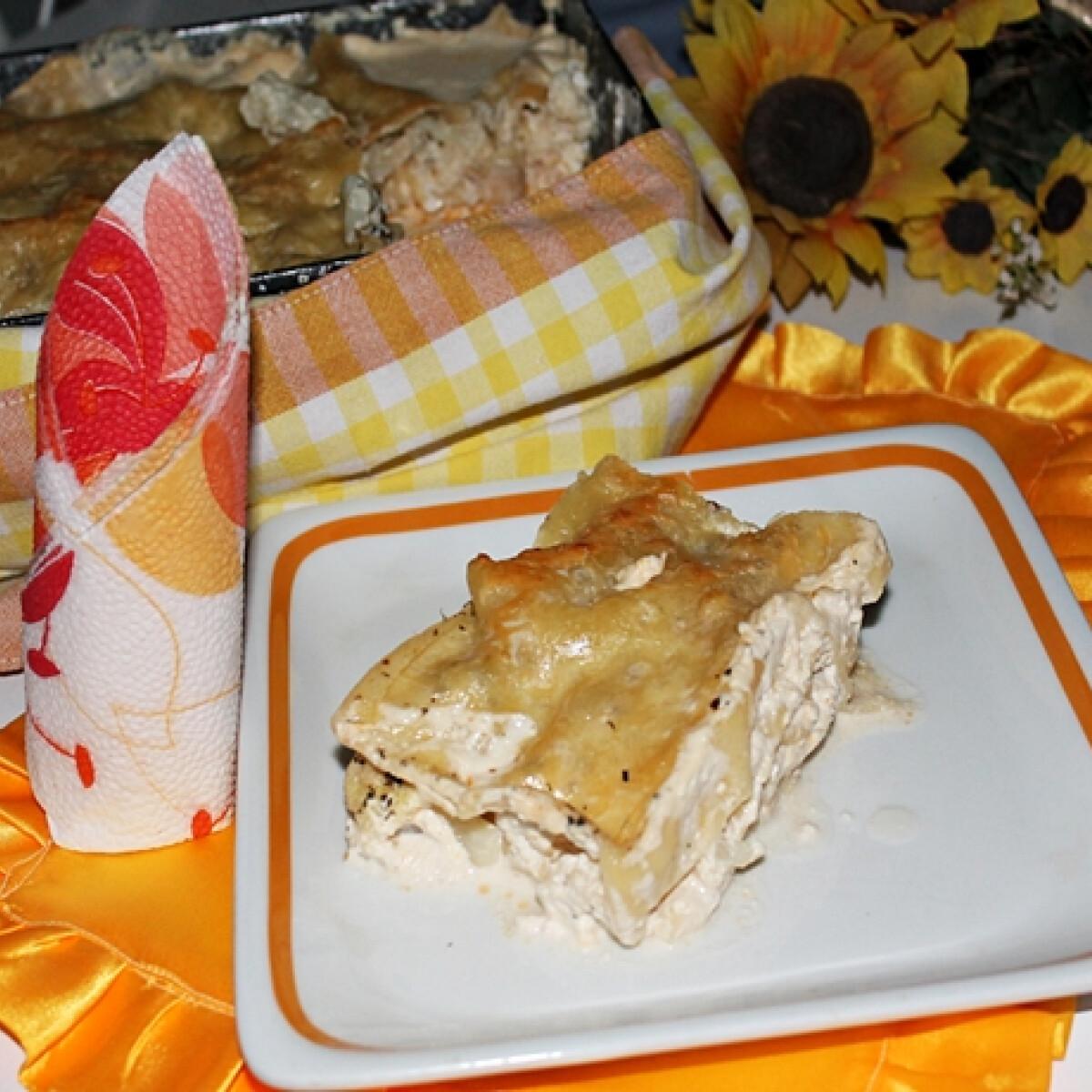 Karfiolos lasagne tejszínesen