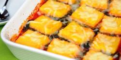 Spenótos-paradicsomos polenta