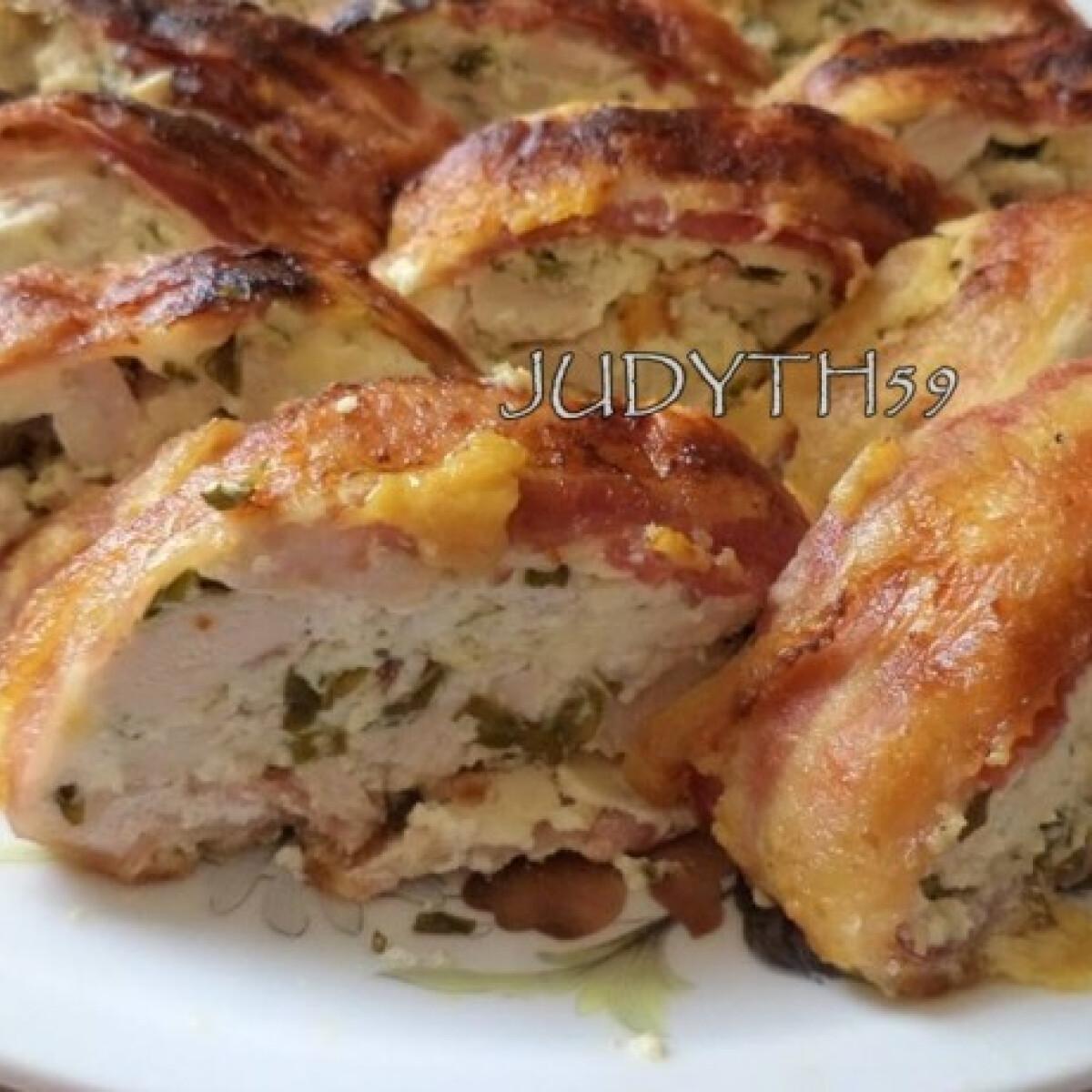 Csirkemell bacon ágyon JUDYTH konyhájából