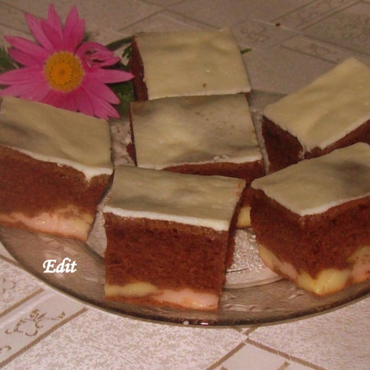 Ezen a képen: Kráter sütemény Edit konyhájából