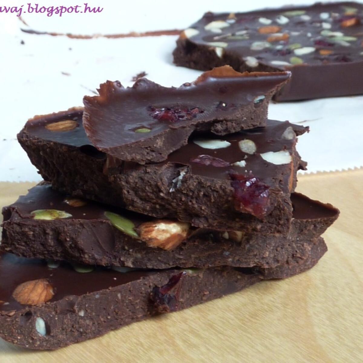 Ezen a képen: Kókuszvajas csokitábla