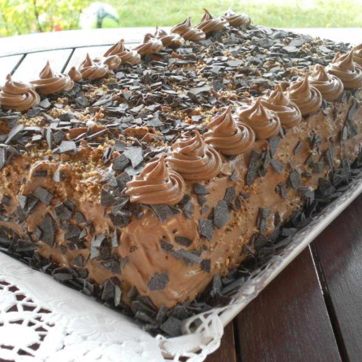 Ezen a képen: Csokis keksztorta Hajni.SZ konyhájából