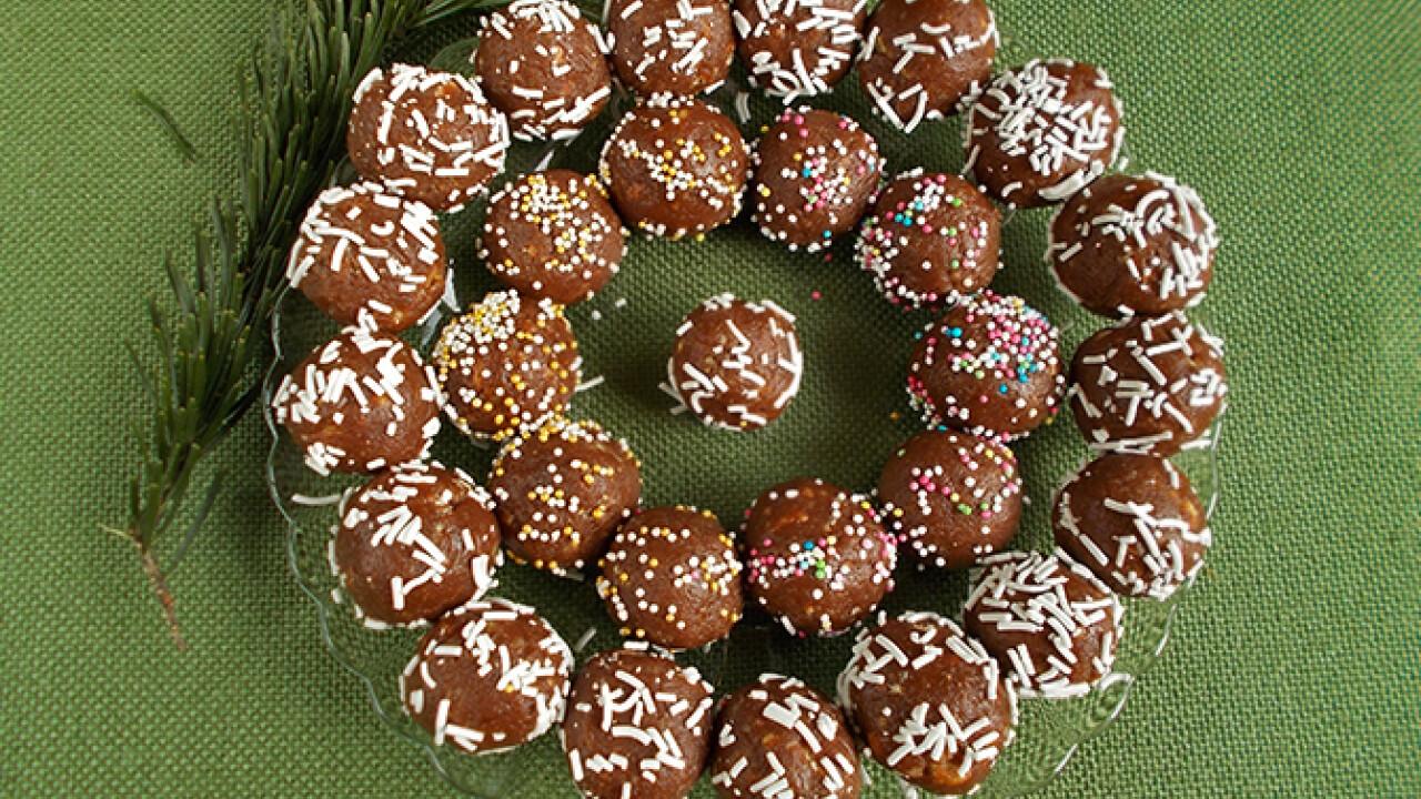 Csokis golyó dekorgyönggyel