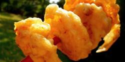 Chilis-kókuszos királyrák tempura