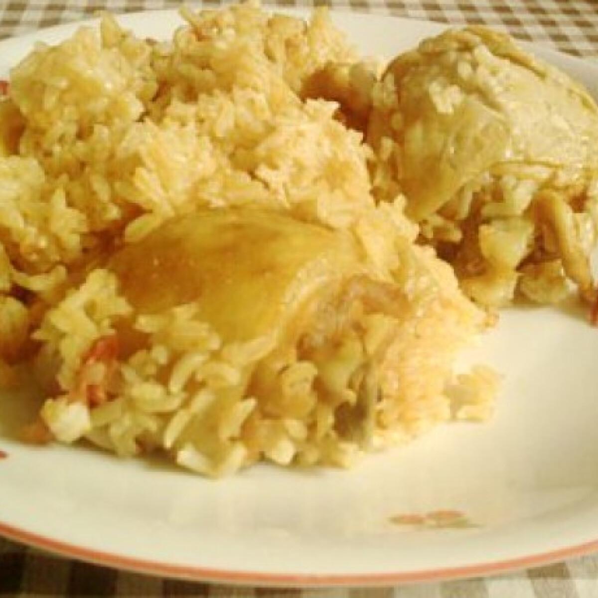 Ezen a képen: Rizses csirke Sz. Ági konyhájából