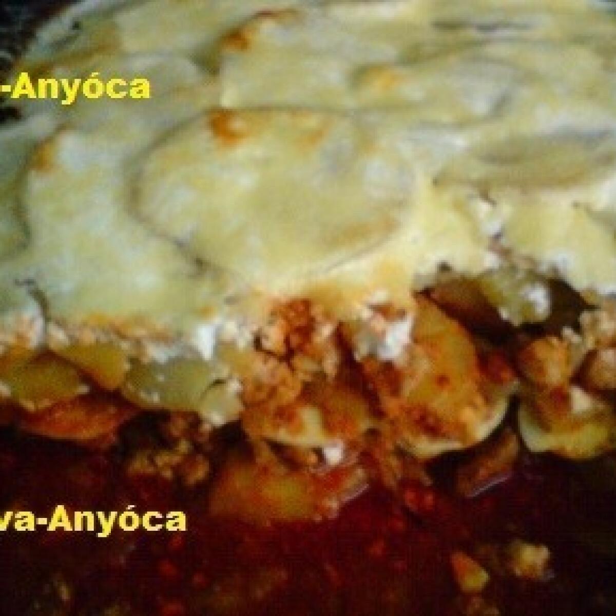 Ezen a képen: Rakott burgonya savanyú káposztával 2. - pulykahúsos