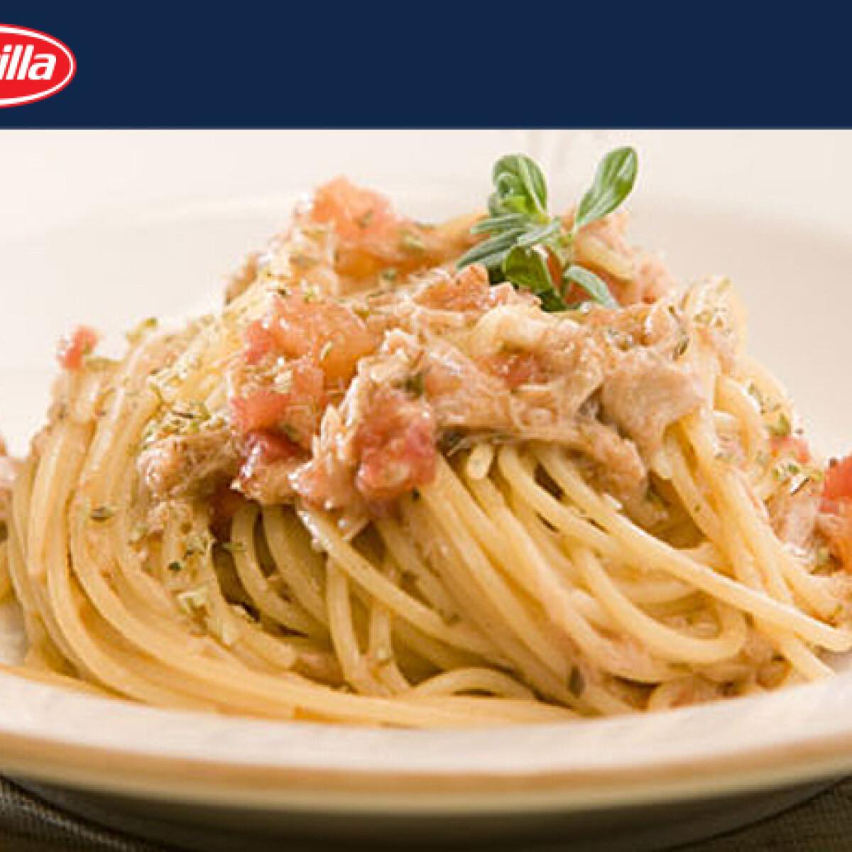 Ezen a képen: Tonhalas spagetti Barilla konyhájából
