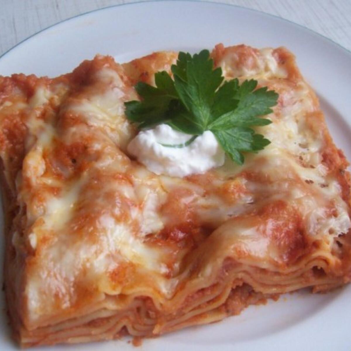Ezen a képen: Lasagne Katrintól