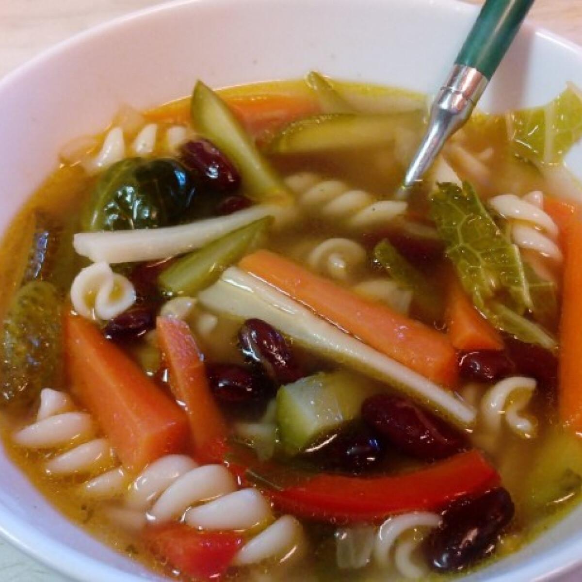 Ezen a képen: Minestrone leves savanykásan