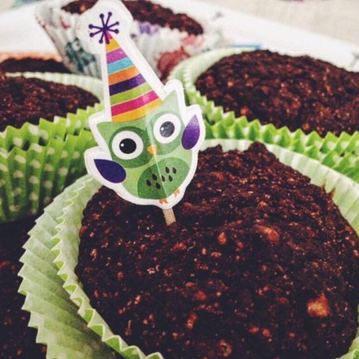 Ezen a képen: Csokis céklás gluténmentes muffin
