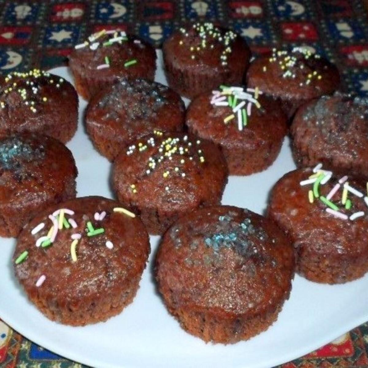 Ezen a képen: Citromos-kakaós muffin Nagymama konyhájából