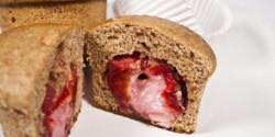 Marcipánnal töltött szilvás muffin
