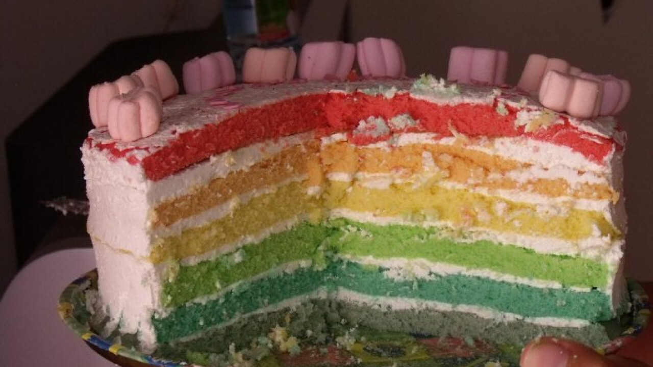 Szivárvány torta ahogy beribari készíti