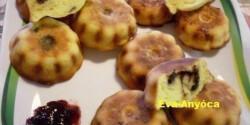 Gesztenyés-étcsokis mini kuglóf