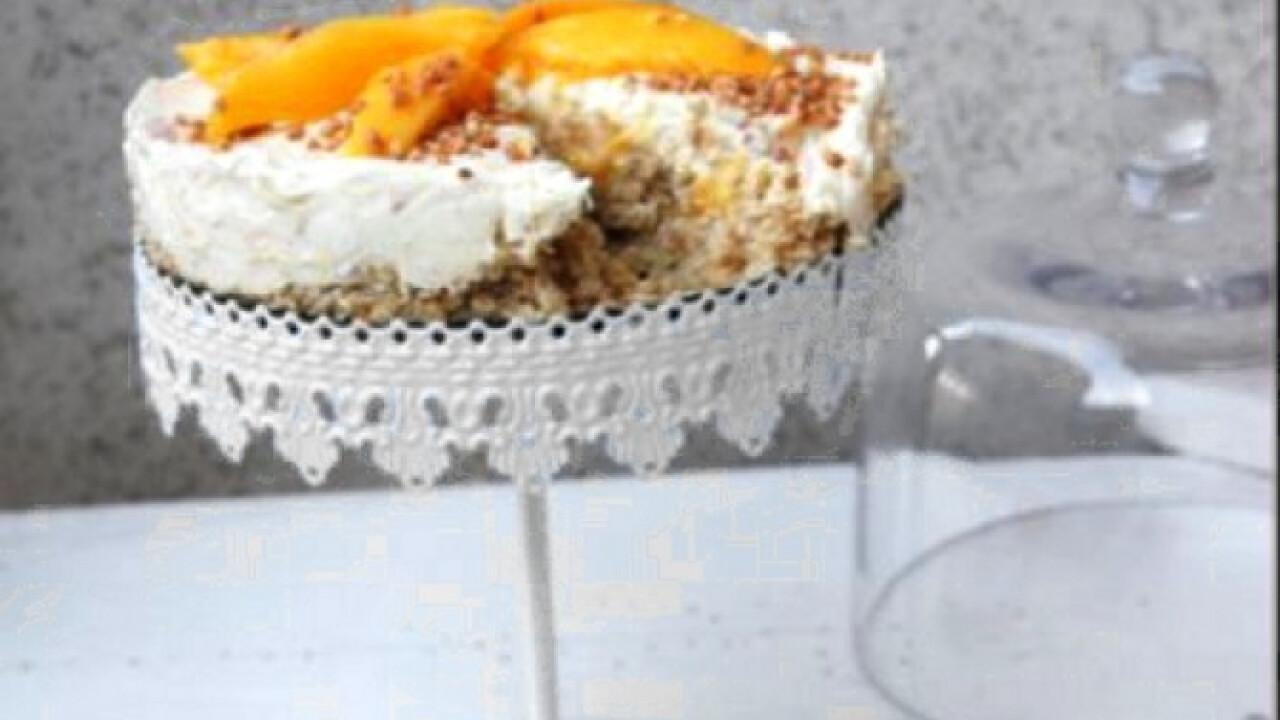 Mangós-mascarponés torta sütés nélkül