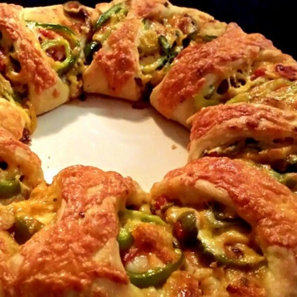Ezen a képen: Pizza gyűrű