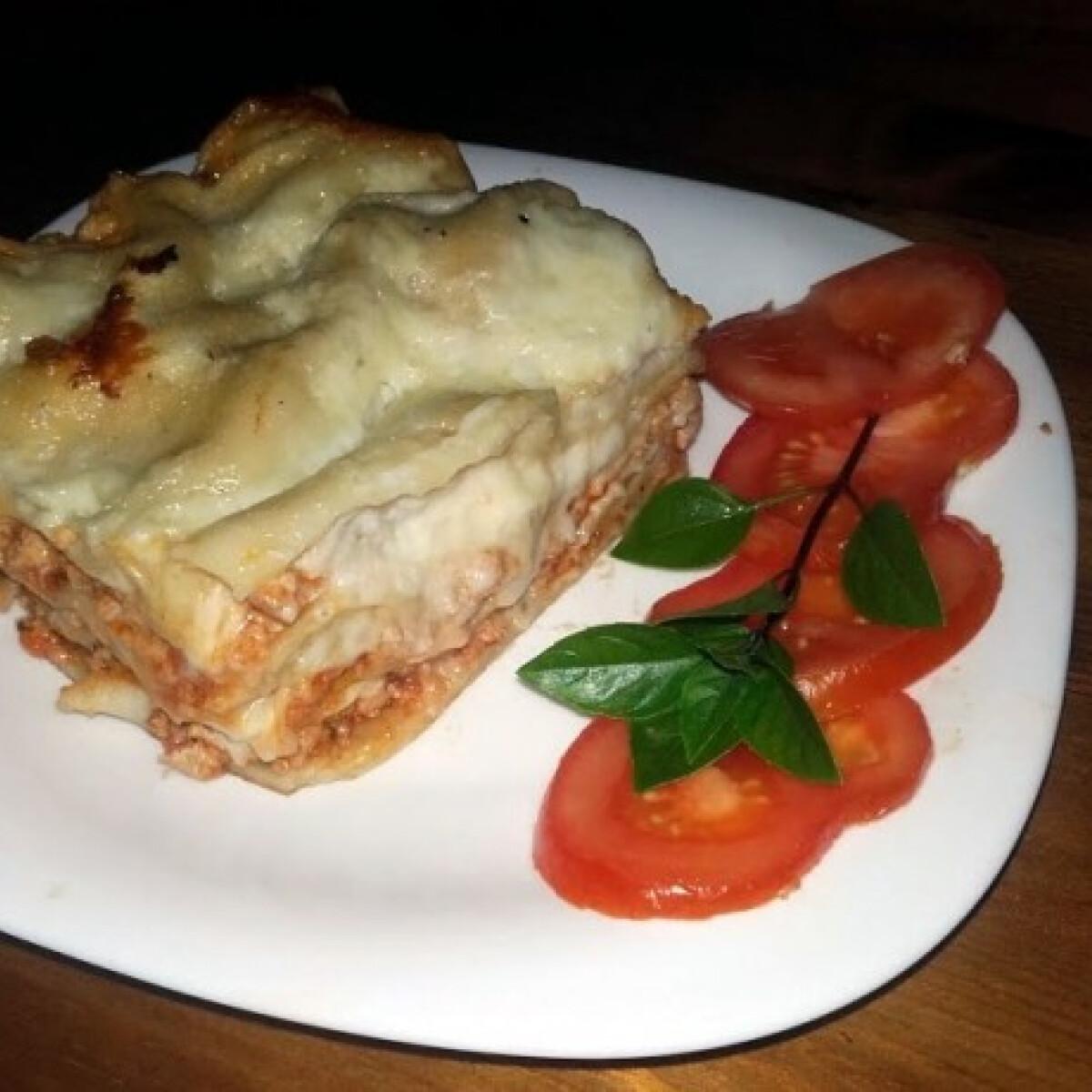 Ezen a képen: Lasagne házi tésztából