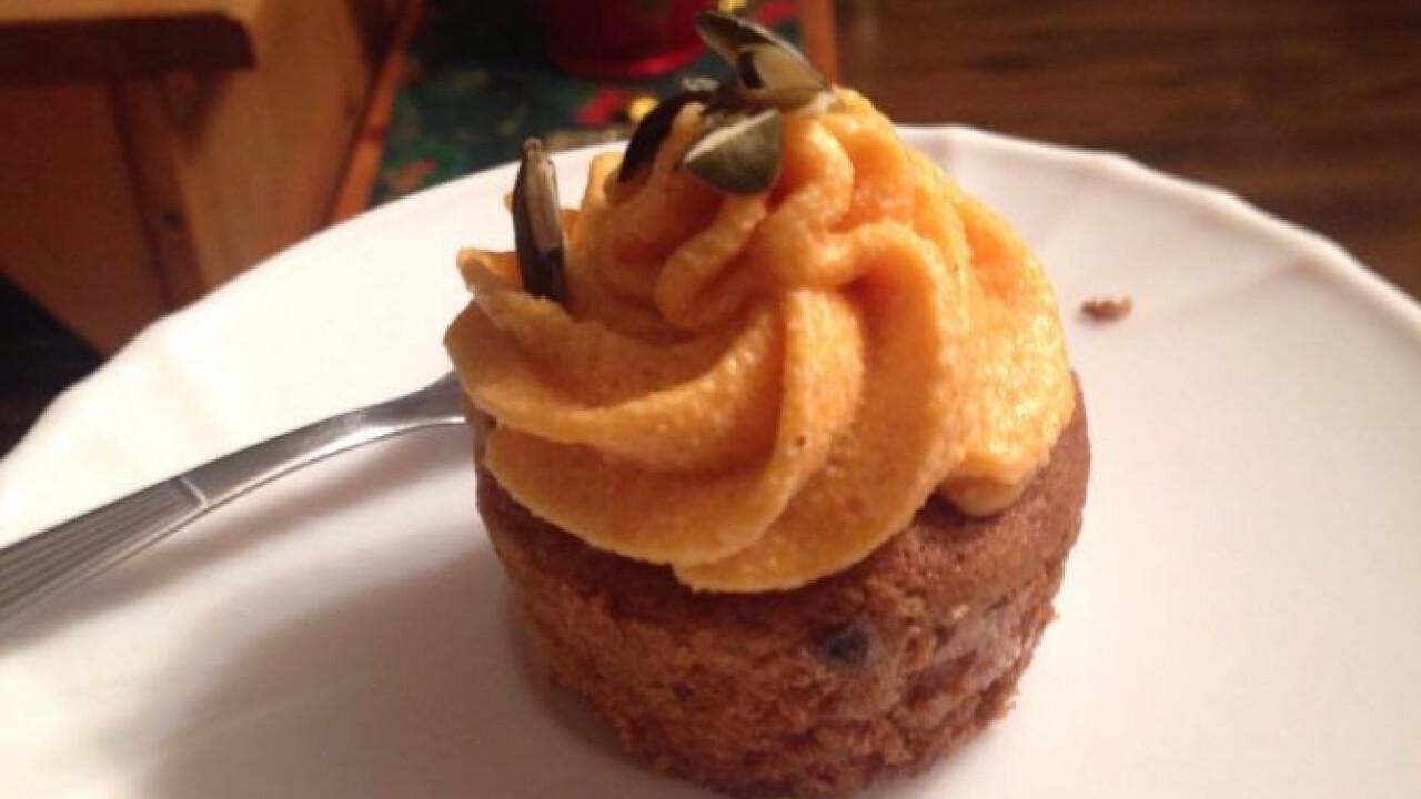 Fűszeres tökös-almás cupcake
