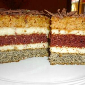 Csíkos süti Alkonyat konyhájából