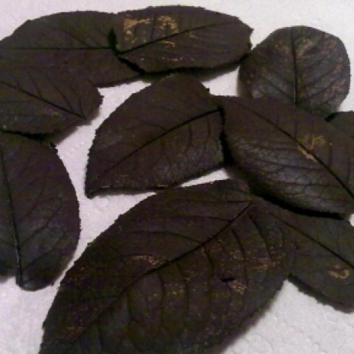 Ezen a képen: Csokilevelek díszítéshez