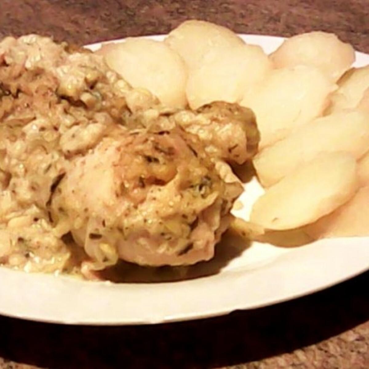 Ezen a képen: Sült csirke kukorica mártással