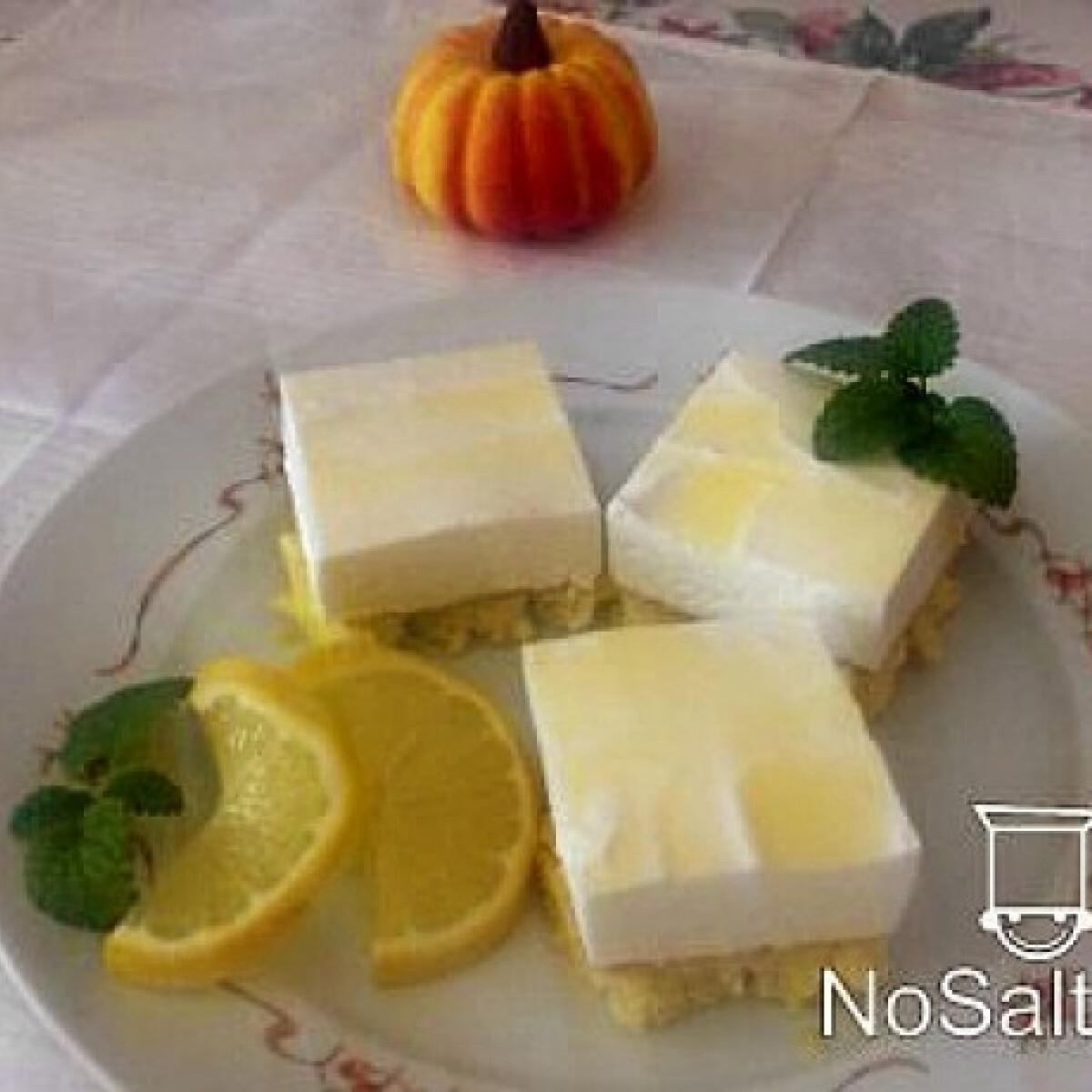 Joghurtos citromszelet