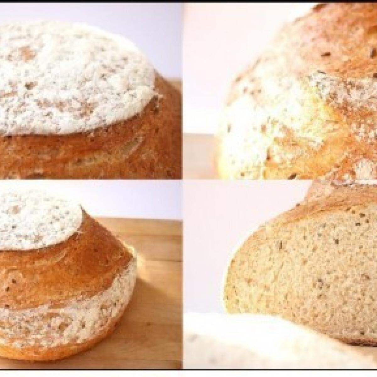 Ezen a képen: Rozsos kenyér 3. - szezám- és lenmagos