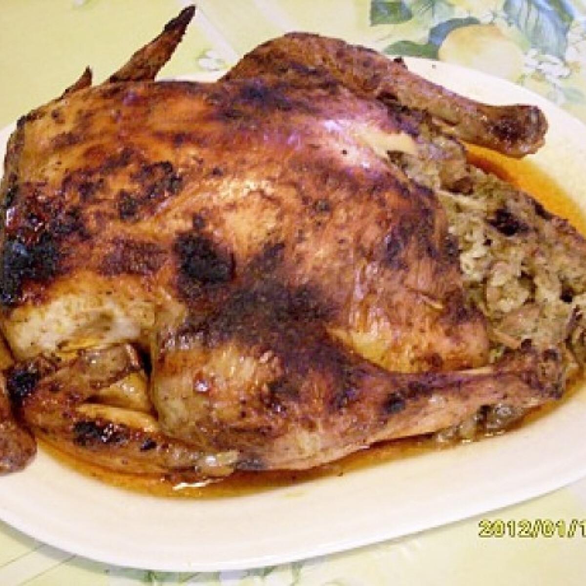 Ezen a képen: Paprikás-gombás töltött csirke