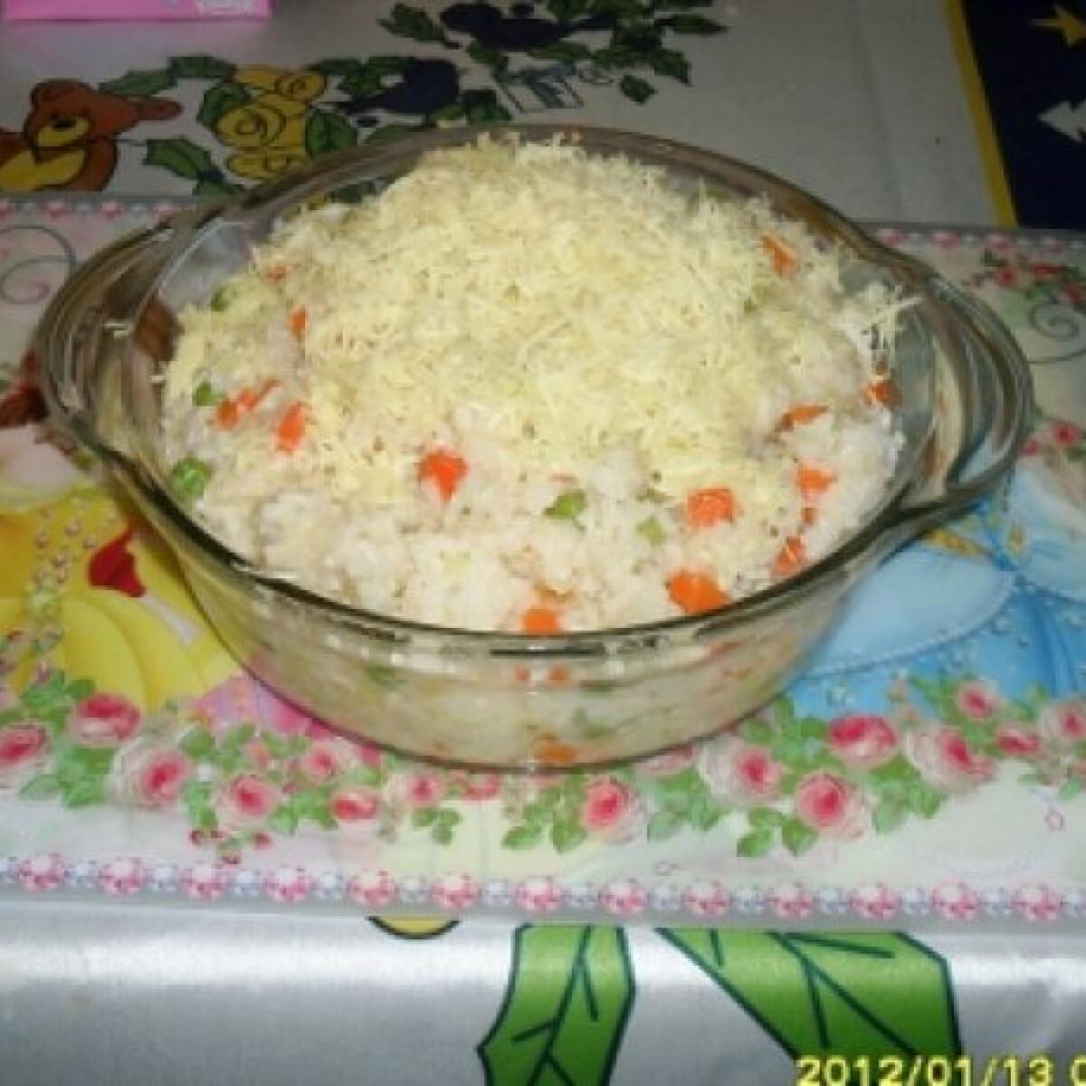 Fokhagymás-zöldséges rizs