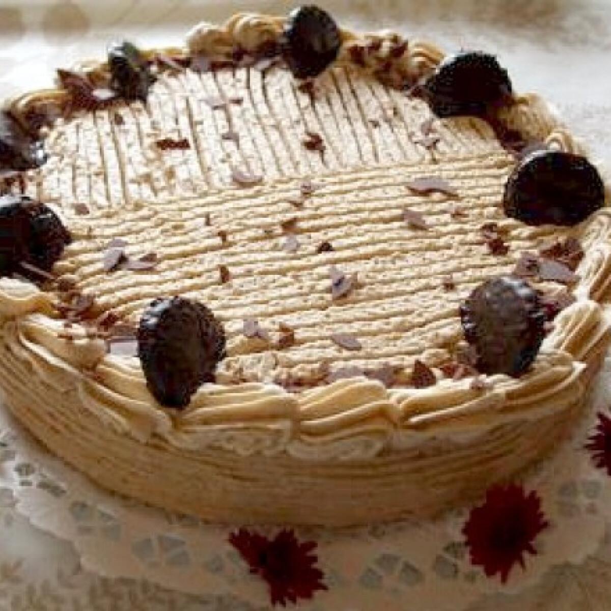 Ezen a képen: Csokipasztillás karamelltorta