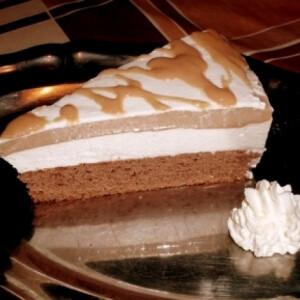 Körtekrémes-karamellás torta