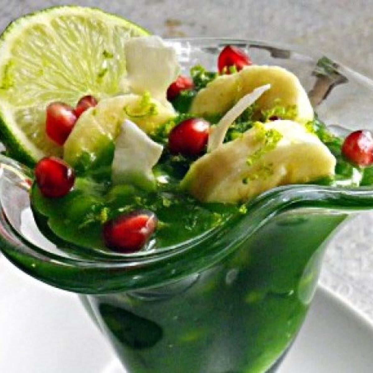 Ezen a képen: Tápióka puding déli gyümölcsökkel