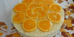 Rizskrémes-narancsos torta