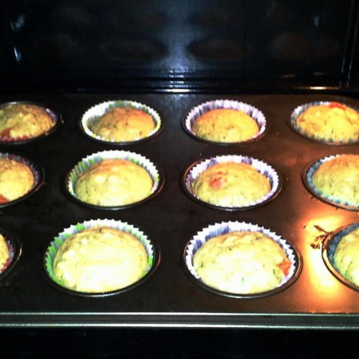 Ezen a képen: Zöldséges muffin MsMandulától
