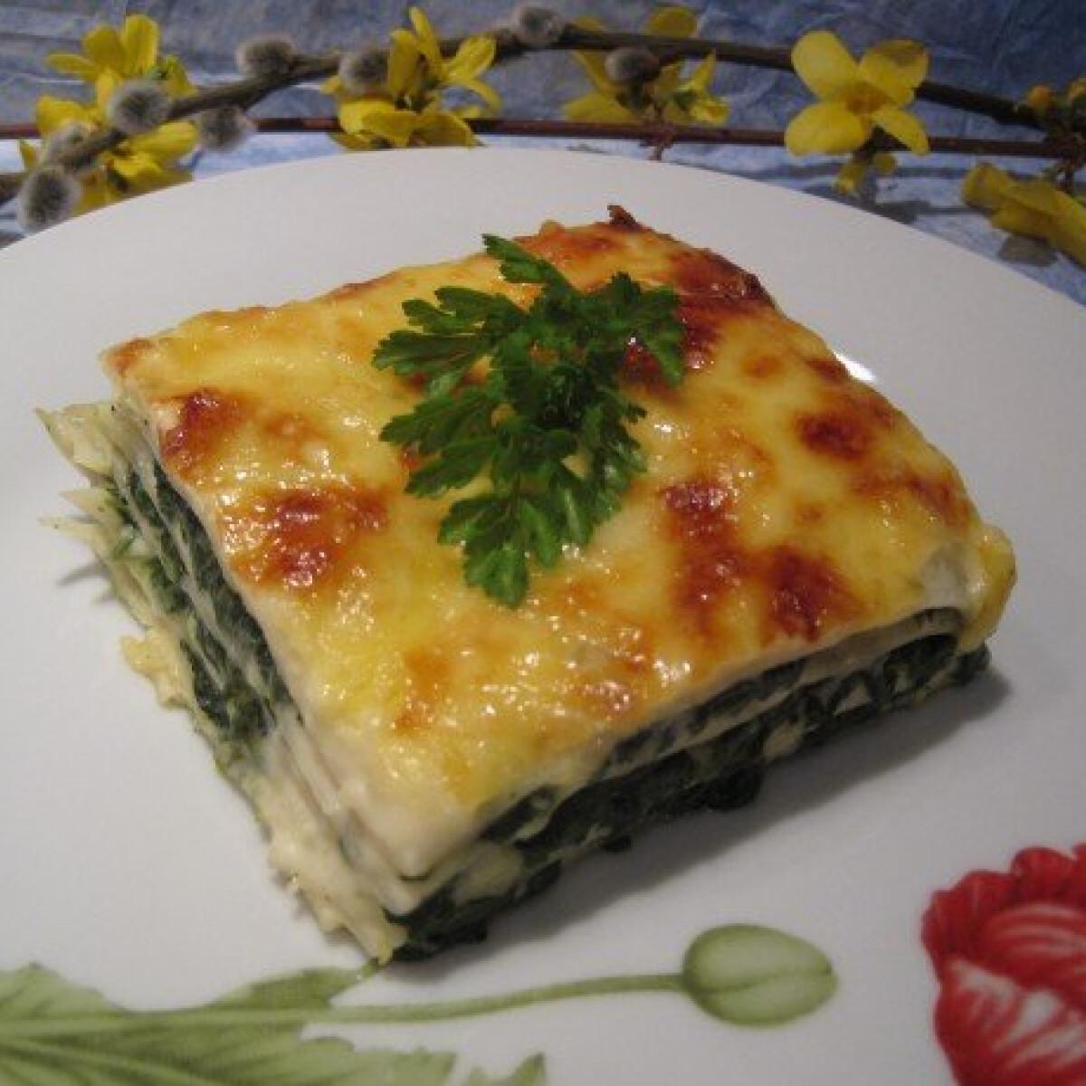 Ezen a képen: Spenótos lasagne Katharosz konyhájából